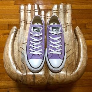 Converse Lilac Platform Sneakers